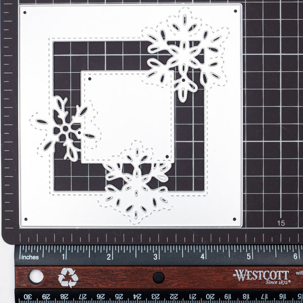 【Original】Square Snowflake Background Dies