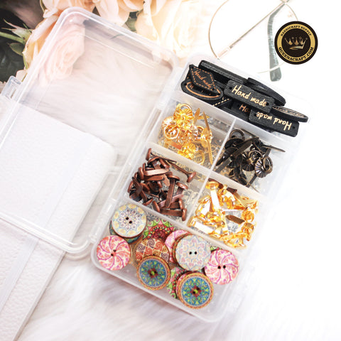 DIY Handcraft Accessories Mixed Material Box-A