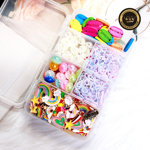 DIY Handcraft Accessories Mixed Material Box-B