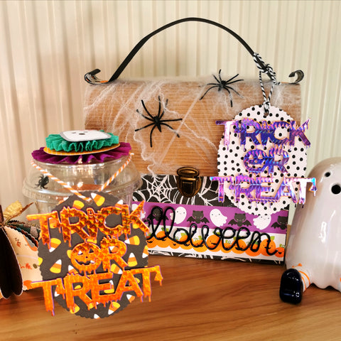 【Original】'TRICK OR TREAT' Halloween Word Die