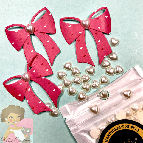 30Pcs Love Half-face ABS Imitation Pearl Decoration