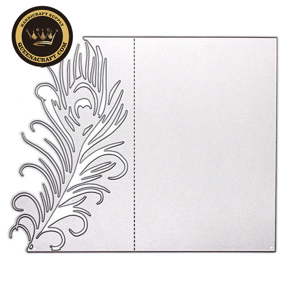 【Original】Feather Cover Folding Card Dies