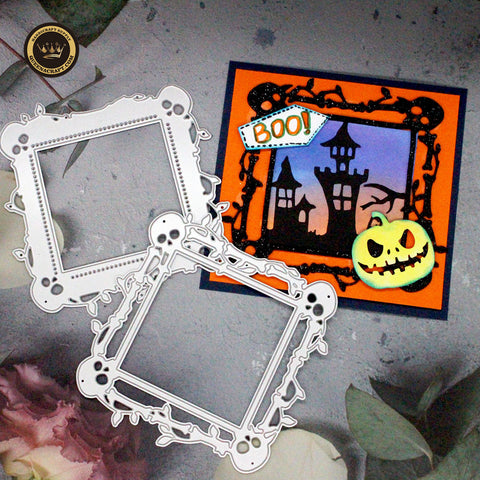 【Original】Halloween Skull Border Dies