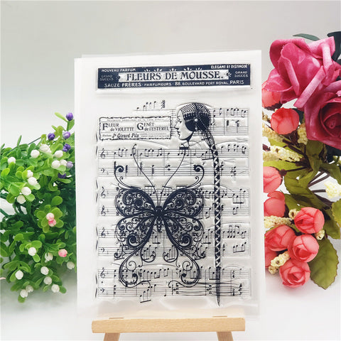 Butterfly Music Stamps