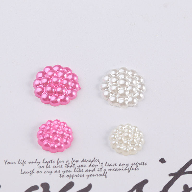 100pcs Starburst Half Face Imitation Pearl Patch
