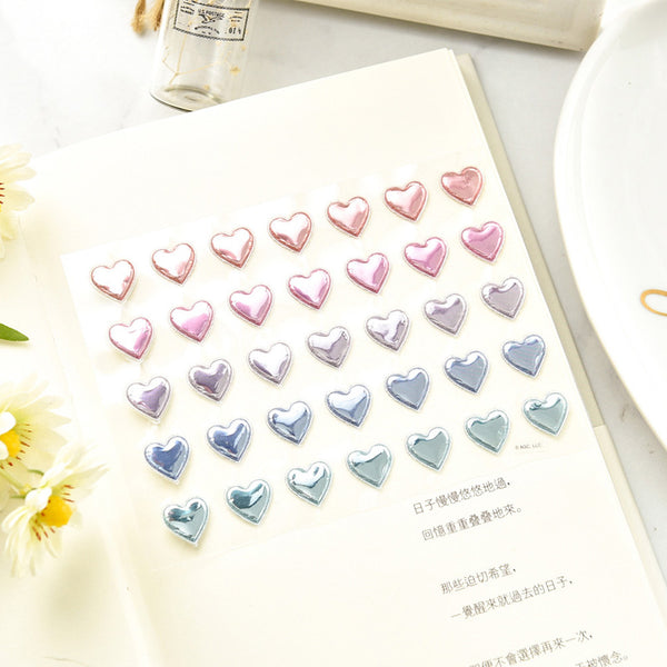 Love Beads Rigid Foam Stickers
