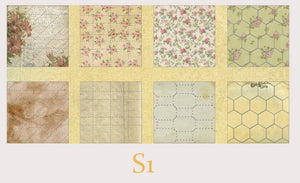 Pre-cut Vintage Handcraft Background Paper