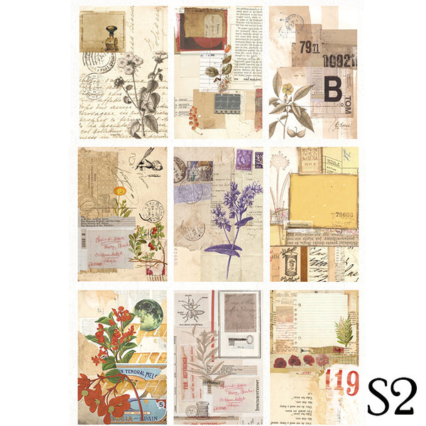 18PCS Refreshing Style Background Paper