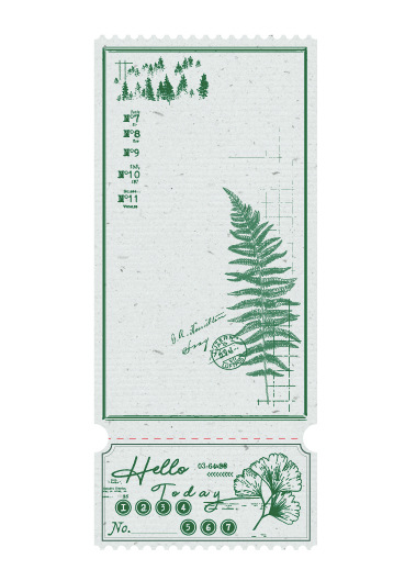 20PCS Natural Plants Notes