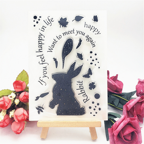 Silhouette Rabbit Stamps