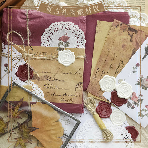 Vintage Gift Wrapping Kit