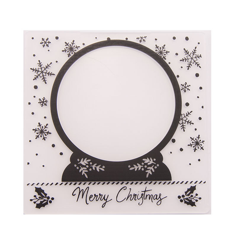 Crystal Ball Embossing Plastic Plates