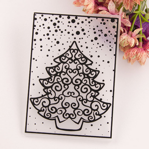 Christmas Tree Embossing Plastic Plates