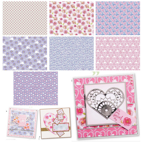 14PC 15*20CM Scrapbooking Paper Pack-Pink