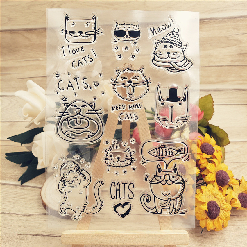 Cartoon Cats Stamps