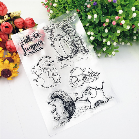 Hedgehog Elephant Stamps