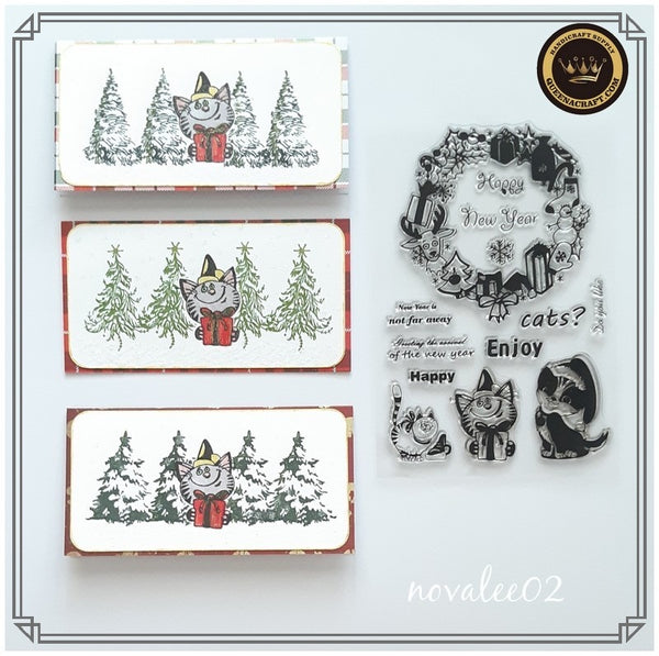 Holiday Cat Stamps