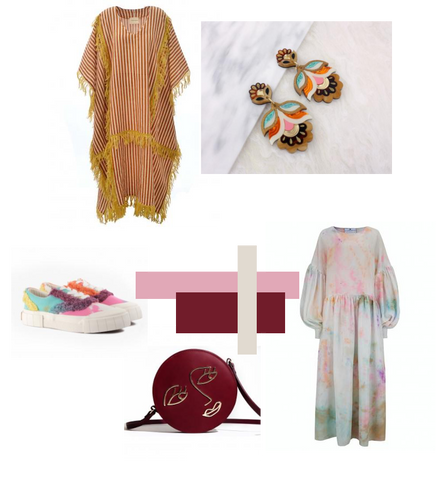 Kaftan and cloud dress curated collection mood board