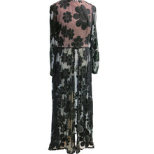 Load image into Gallery viewer, 1960s Lace and Acetate Flower Power Pant Suit - shopcurious