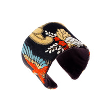 Load image into Gallery viewer, Birds of Paradise: Upcycled Obi Belt Cuff - shopcurious