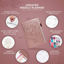 Load image into Gallery viewer, Legend Planner - Rose Gold Organizer Notebook & Productivity Journal - shopcurious