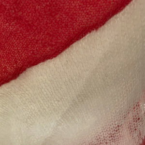 Acne Studios Red and White Striped Sheer Knitted Jumper