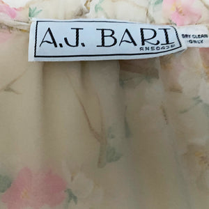 A J Bari floral organza dress - shopcurious