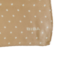 Load image into Gallery viewer, 1960s Biba Polka Dot Silk Square – Peachy Beige - ShopCurious