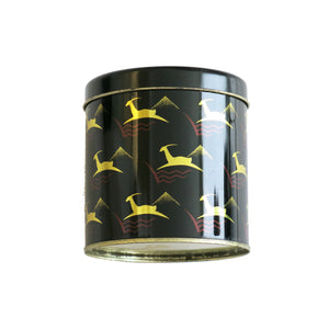 1970s Biba Leaping Gazelle Deer Storage Caddy Tin – Cylindrical - ShopCurious