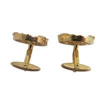 Load image into Gallery viewer, Cufflinks – Round Brutalist Design, Gold - shopcurious