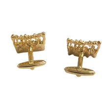 Load image into Gallery viewer, Cufflinks - Square Brutalist Design, Gold - shopcurious