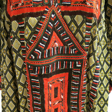 Load image into Gallery viewer, Hand Embroidered Diamond Print Ethnic Kaftan - shopcurious