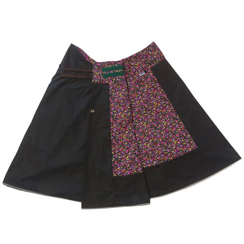 Floral Days: Hand-Tailored Wax Cotton Riding Skirt - ShopCurious