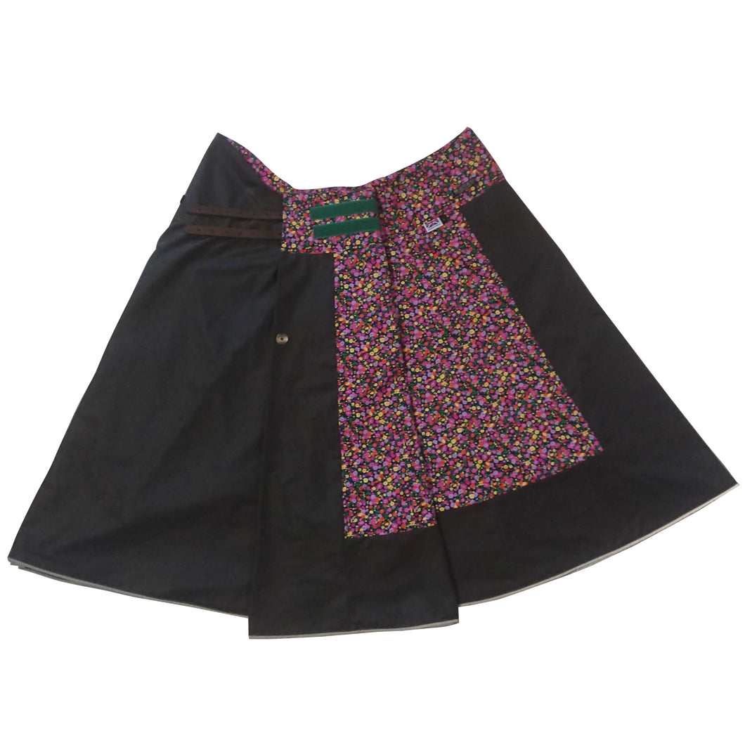 Floral Days: Hand-Tailored Wax Cotton Riding Skirt - shopxcurious