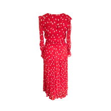 Load image into Gallery viewer, Ghost Red and White Polka Dot Georgette Everly Maxi Dress - shopcurious