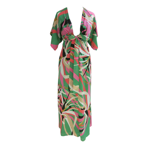 Issa Multicoloured Tropical Print Silk Dress - shopcurious