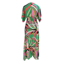 Load image into Gallery viewer, Issa Multicoloured Tropical Print Silk Dress - shopcurious