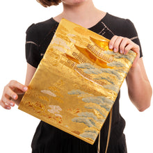 Load image into Gallery viewer, Kinkakuji: Upcycled Obi Envelope Clutch/Shoulder Bag - shopxcurious
