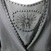 Load image into Gallery viewer, 1920s Crepe Dress with Jet Beading - shopcurious