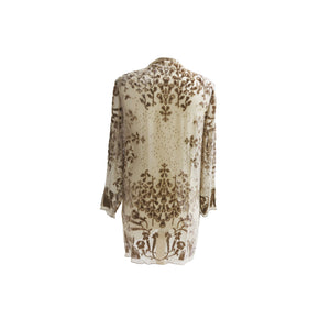 Marian Clayden Vintage Candlelight Collection Twilight Devoré Jacket - shopcurious