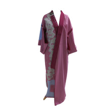 Load image into Gallery viewer, Abstract Art Violet Vintage Kimono - shopcurious