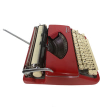 Load image into Gallery viewer, Olympia Splendid 99 Red Vintage Typewriter - shopcurious