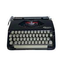 Load image into Gallery viewer, Olympia Splendid 66 Black Vintage Typewriter - shopcurious