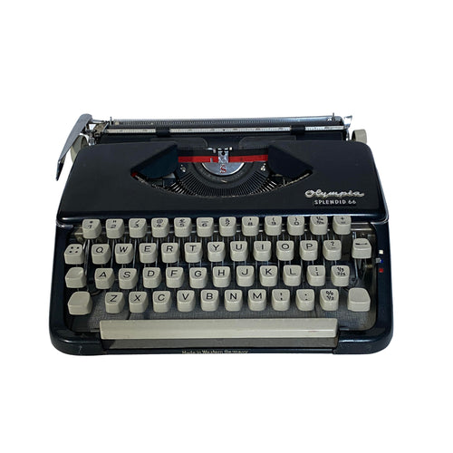 Olympia Splendid 66 Black Vintage Typewriter - shopcurious