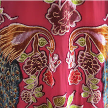 Load image into Gallery viewer, Fringed Devoré Peacock Flower Kimono Jacket - ShopCurious