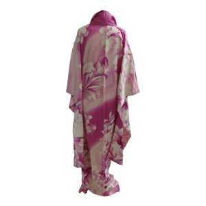 Plum and Ivory Floral Vintage Wedding Kimono - shopcurious