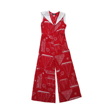 Load image into Gallery viewer, Pollypeck 1960s Vintage Sailor Style Jumpsuit