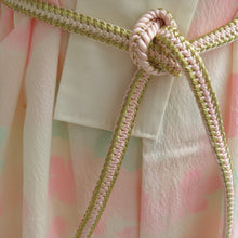Load image into Gallery viewer, Pale Pink Maple and White Vintage Kimono - shopxcurious