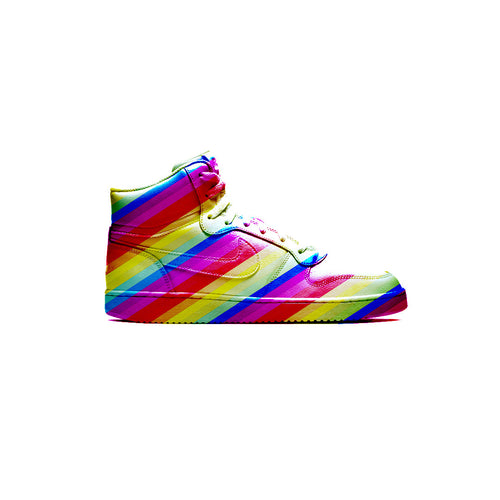 Rainbow Party LED: Customised/Upcycled Trainer Design - shopcurious