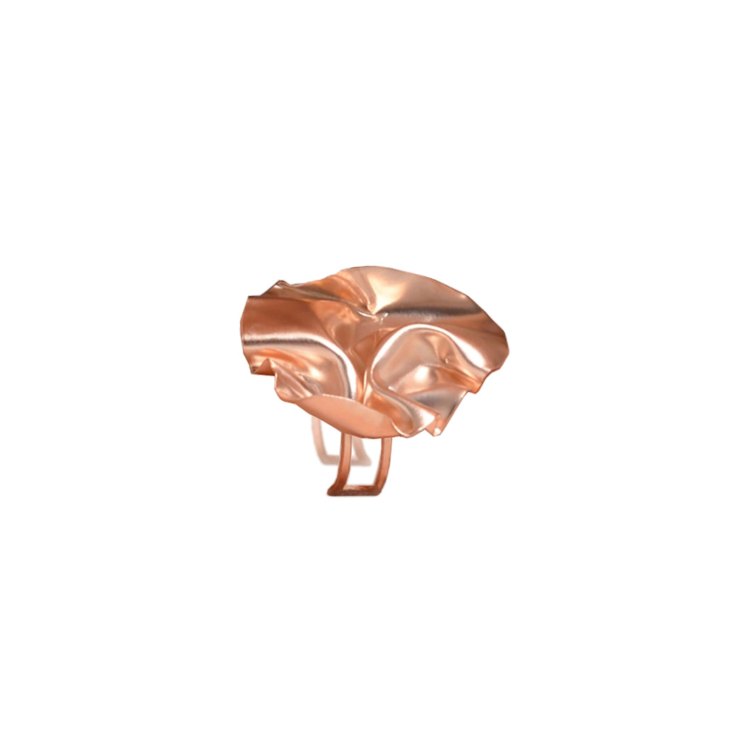 Rose Gold FOLD Open Ring - shopcurious